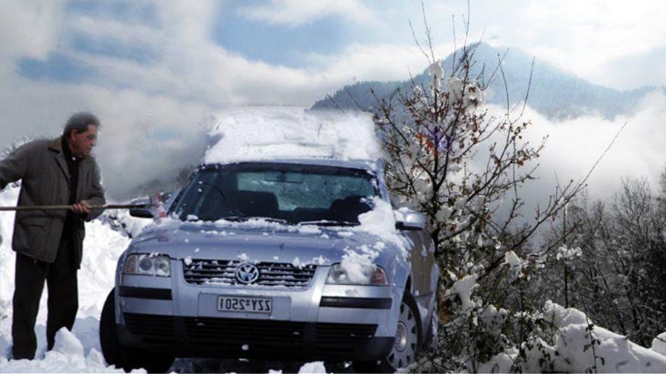 Χιόνια σε Πεντέλη και Πάρνηθα