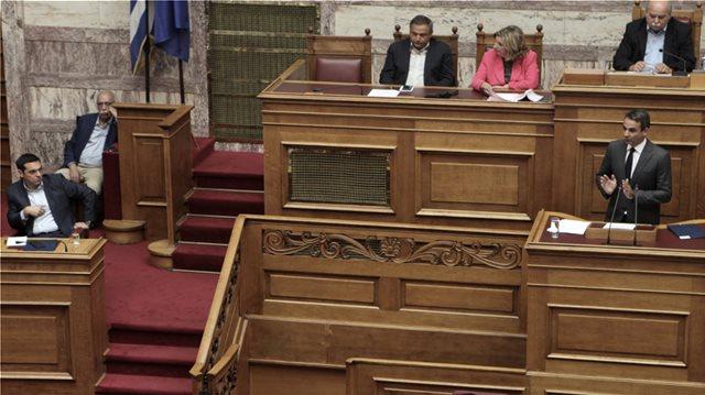 Μάχη εφ' όλης της ύλης στη Βουλή για οικονομία, Σκοπιανό και ανομία