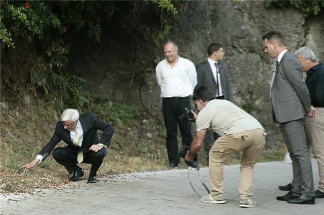 Καλαμπάκα: Η συνάντηση του Προκόπη Παυλόπουλου με μια... χελώνα