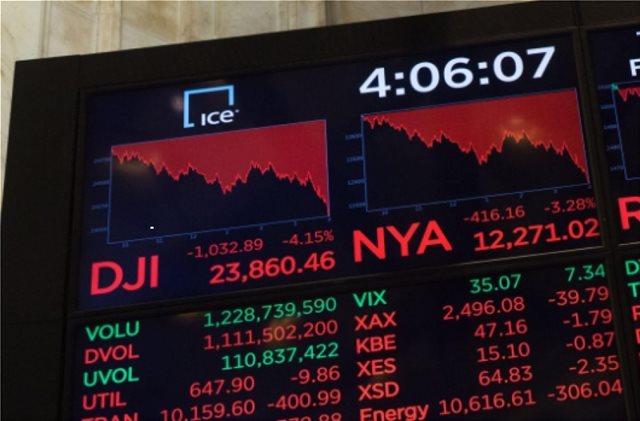Wall Street: Αρνητικό σερί οχτώ συνεδριάσεων για Dow Jones
