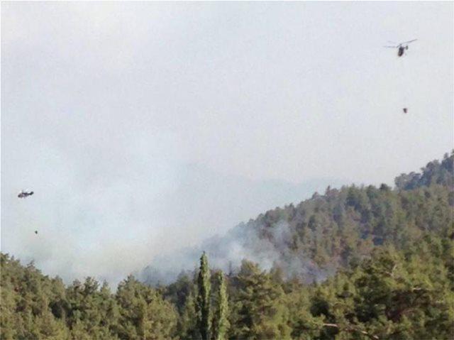 Κύπρος: Μεγάλη φωτιά στον Πύργο Τυλληρίας