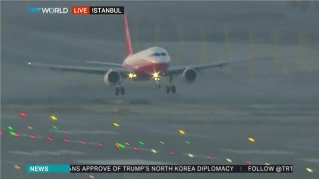 Βίντεο και φωτογραφίες: Ο Ερντογάν «προσγειώνεται» για πρώτη φορά στο «νέο» αεροδρόμιο της Κωνσταντινούπολης