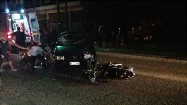 Τρίκαλα: Σοβαρός τραυματισμός δυο νέων με μηχανή
