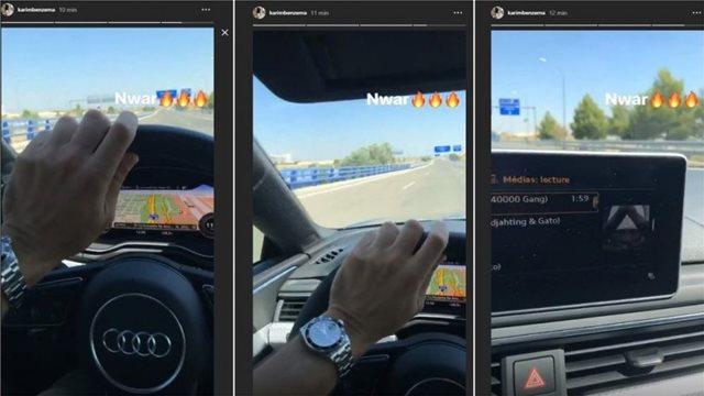 Σάλος με Μπενζεμά που τραβάει βίντεο ενώ οδηγάει με 120 χιλιόμετρα
