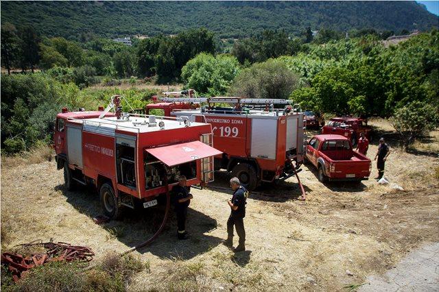 Κρήτη: Πυρκαγιά στην Ιεράπετρα - Δεν απείλησε κατοικημένη περιοχή