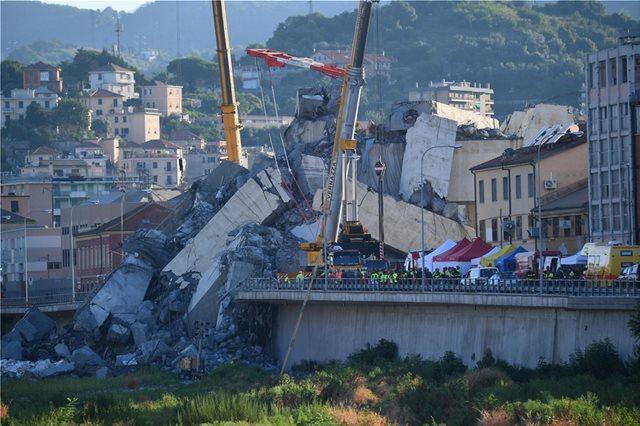 Εθνικό πένθος στην Ιταλία για την κατάρρευση της γέφυρας στη Γένοβα
