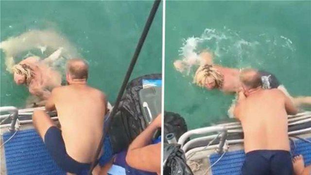 Προσπάθησε να παλέψει με καρχαρία 3 μέτρων και κατέληξε στο νοσοκομείο (vid)