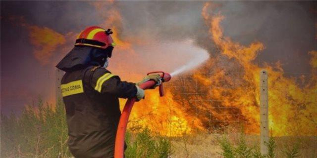 Κρήτη: Φωτιά στις Αγιές Παρασκιές κινητοποίησε την πυροσβεστική
