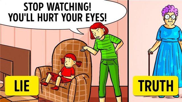 Τα δέκα πιο συνηθισμένα ψέμματα που λένε οι γονείς