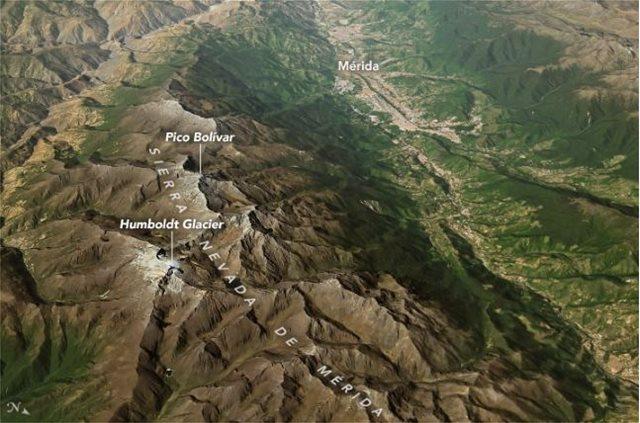 Δορυφορικές φωτογραφίες: «Εξαφανίζεται» ο παγετώνας Humboldt στη Βενεζουέλα
