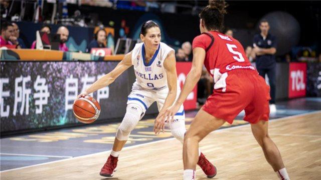 Ελλάδα-Καναδάς 50-81: Βαριά ήττα για την Εθνική Γυναικών στην πρεμιέρα του Μουντομπάσκετ