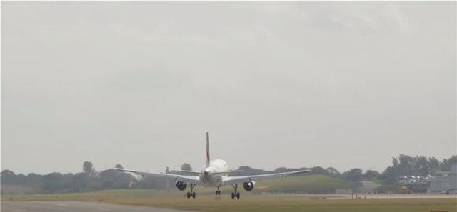 Προσγείωση τρόμου για Airbus της Air France λόγω της καταιγίδας Ali στη Βρετανία
