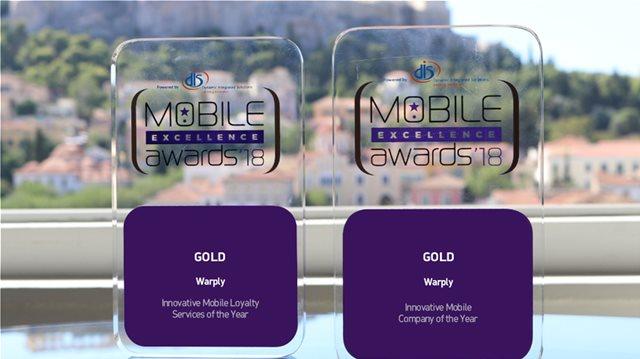"""Δύο χρυσά βραβεία για τη Warply στα """"Mobile Excellence Awards 2018"""""""