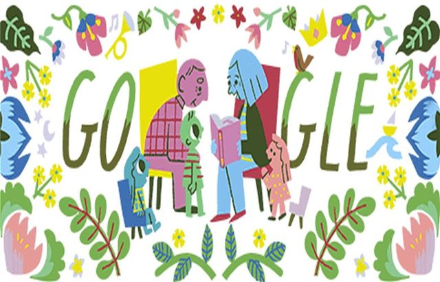 To τρυφερό doodle της Google για την «Ημέρα του Παππού και της Γιαγιάς»