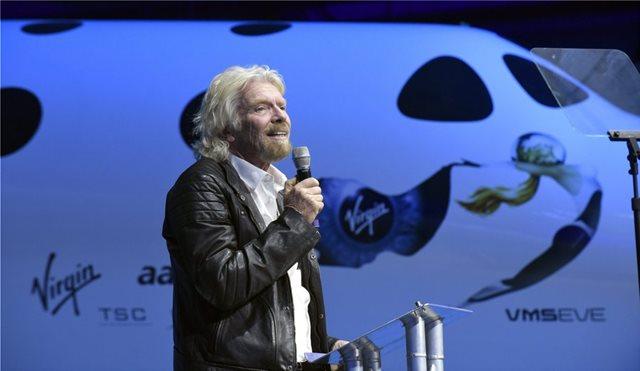 Μπράνσον: Η Virgin Galactic θα βρίσκεται στο διάστημα «μέσα σε εβδομάδες, όχι μήνες»