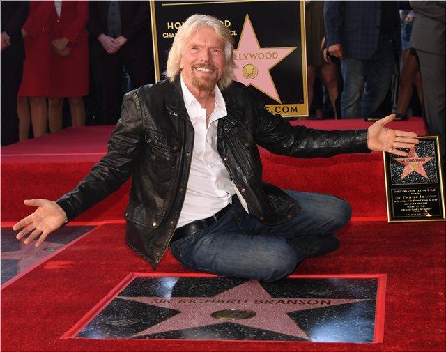 Ένα αστέρι στη Λεωφόρο της Δόξας για τον μεγιστάνα της Virgin Ρίτσαρντ Μπράνσον