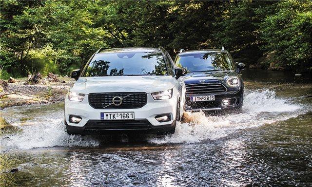 Συγκριτικό: Mini Cooper D Countryman ALL4 vs Volvo XC40 D4 AWD