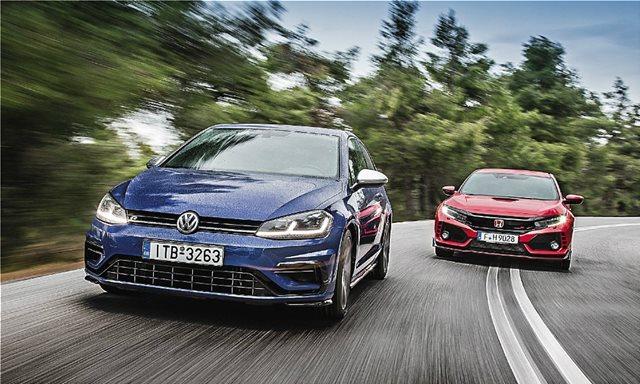 Συγκρίνουμε: Honda Civic Type R VS VW Golf R DSG7