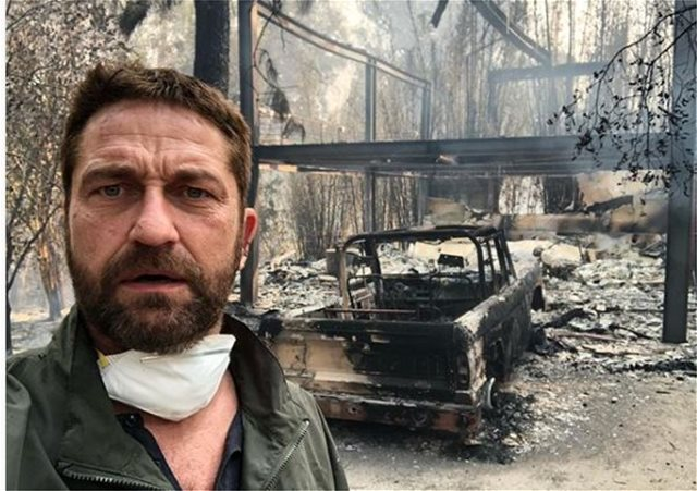 Καλιφόρνια: Στάχτη τα  σπίτια των Gerard Butler και Miley Cyrus - «Ξεσπιτώθηκαν» Σερ και Γκιγιέρμο ντελ Τόρο