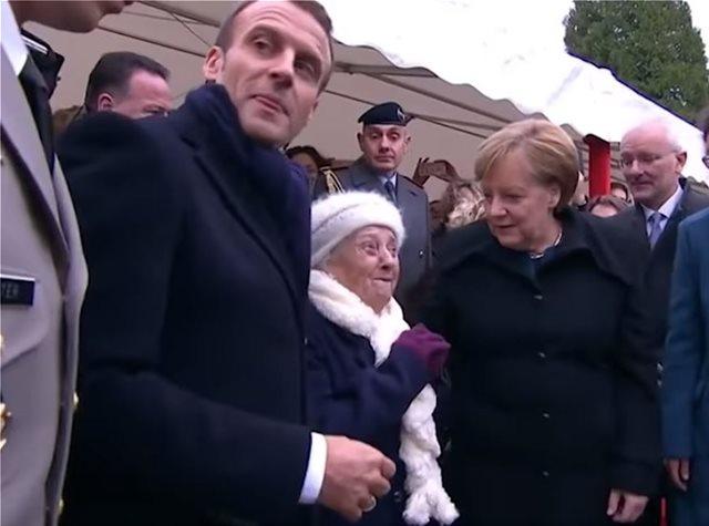 Βίντεο: Απίστευτη γιαγιά 100 ετών «πέρασε» τη Μέρκελ για την Μπριζίτ Μακρόν!