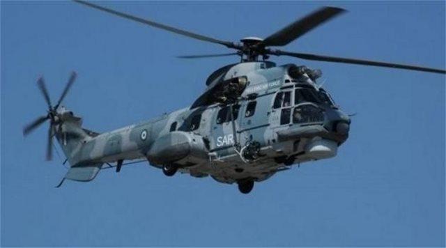 Διακομιδή ασθενούς από κρουαζιερόπλοιο με ελικόπτερο Super Puma