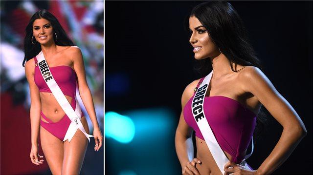 Ιωάννα Μπέλλα: «Εκρηκτική» εμφάνιση με μαγιό στα προκριματικά του «Miss Universe»