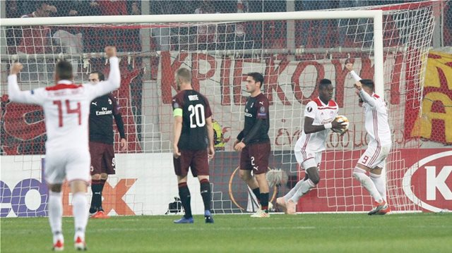 Olympiakos advance in Europa League after epic win against Milan (3-1)