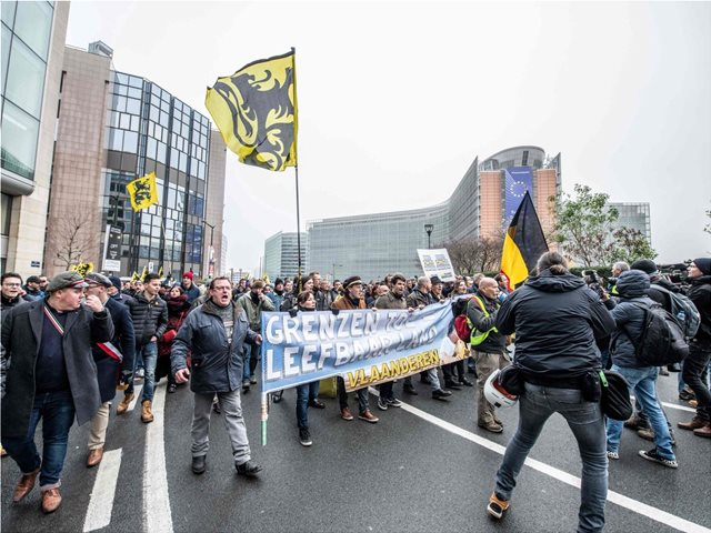 Anti-migration protest in Brussels