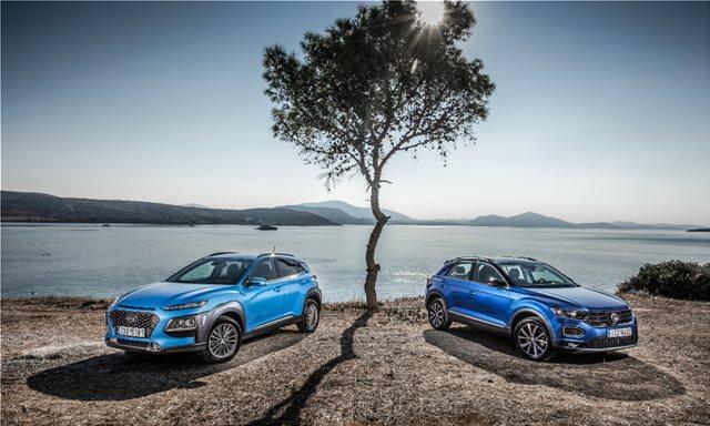 Hyundai Kona 1.0 T-GDI vs Volkswagen T-Roc 1.0 TSI