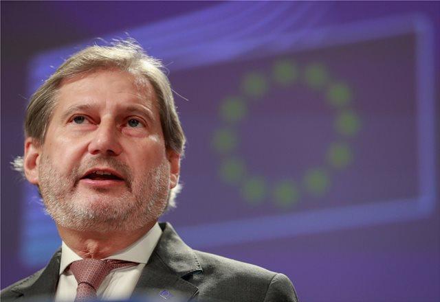 Συγχαρητήρια του Γιοχάνες Χαν για τη συνταγματική αναθεώρηση στα Σκόπια