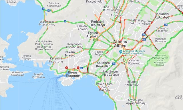 LIVE η κίνηση στους δρόμους όλης της Ελλάδας