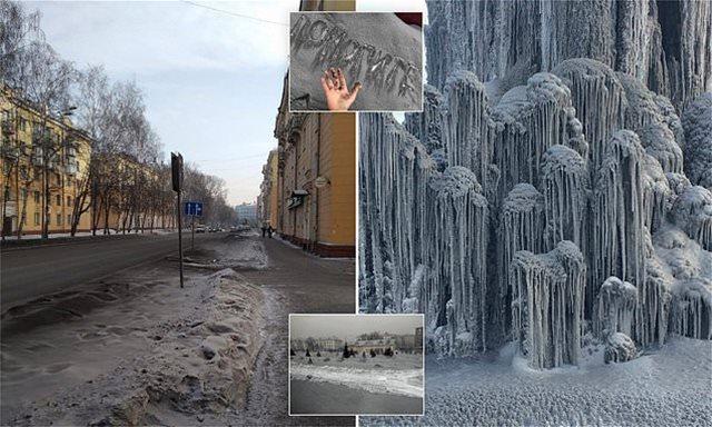 Βίντεο: Σοκ σε πόλη της Σιβηρίας που καλύφθηκε από... μαύρο χιόνι!