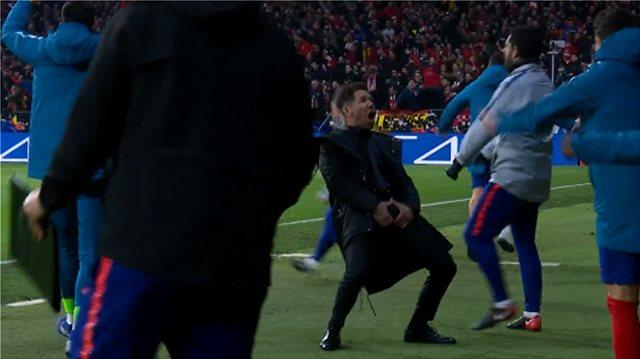 Βίντεο: Τρελάθηκε ο Σιμεόνε στο γκολ της Ατλέτικο και έδειξε... τα γεννητικά του όργανα!