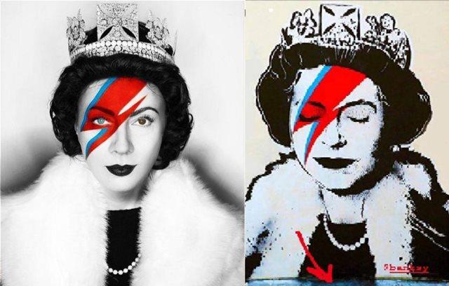 Η εντυπωσιακή μεταμόρφωση της Σμαράγδας Καρύδη σε βασίλισσα του Banksy