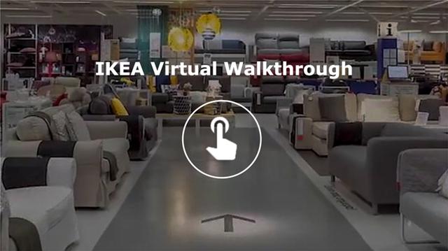 Εικονική περιήγηση στα καταστήματα της ΙΚΕΑ