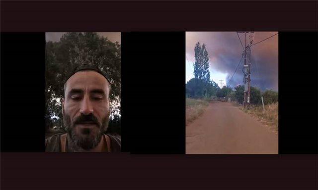Ο Γιώργος Μαυρίδης βρίσκεται στη φωτιά στην Εύβοια: Σοκάρουν τα βίντεο που τράβηξε με το κινητό του