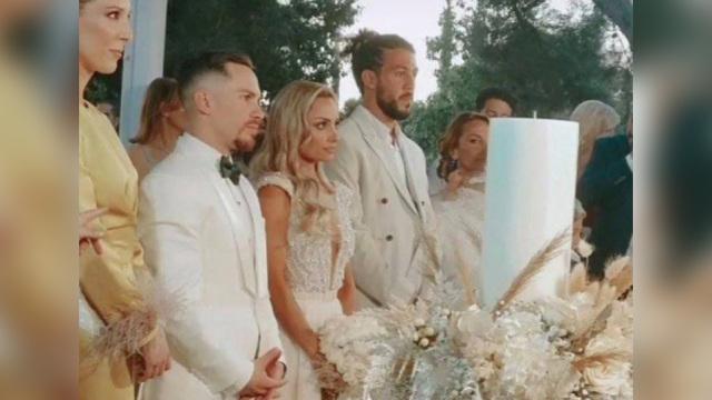Λευτέρης Πετρούνιας - Βασιλική Μιλλούση: Παντρεύτηκαν με θρησκευτικό γάμο - Δείτε βίντεο και φωτογραφίες