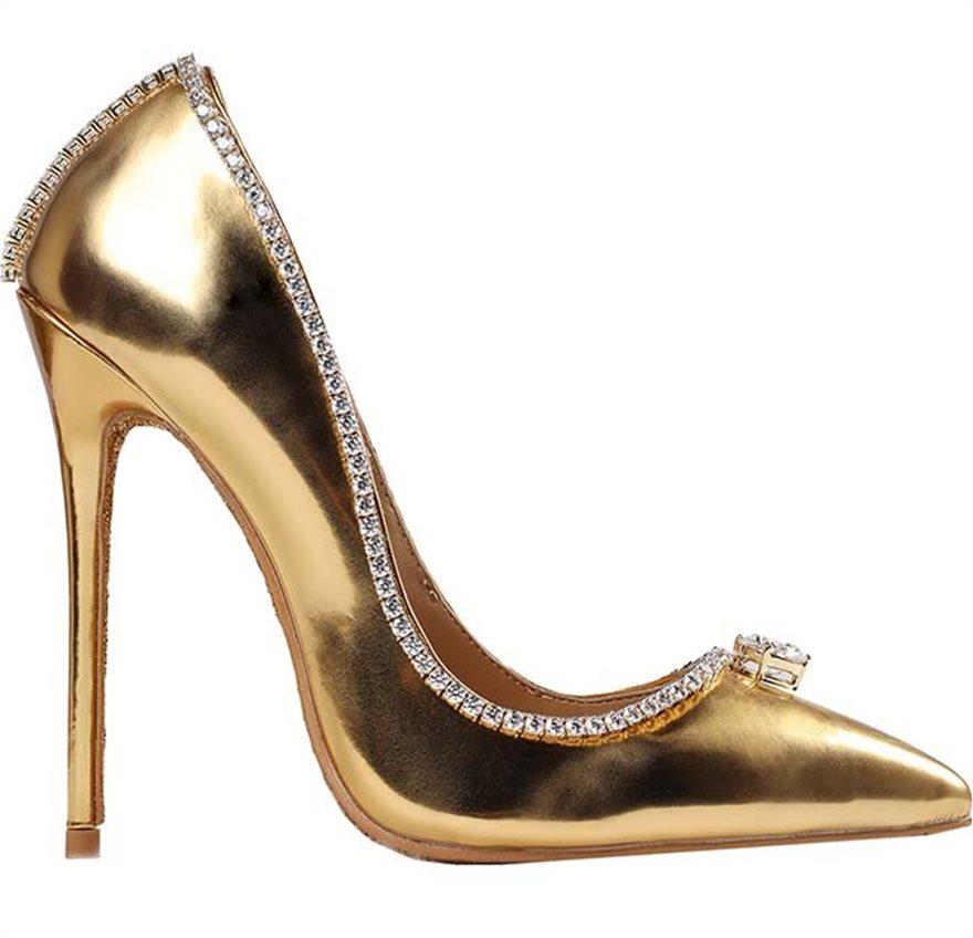 467f7583e65 Το ακριβότερο παπούτσι στον κόσμο: Χρυσές γόβες με διαμάντια ...