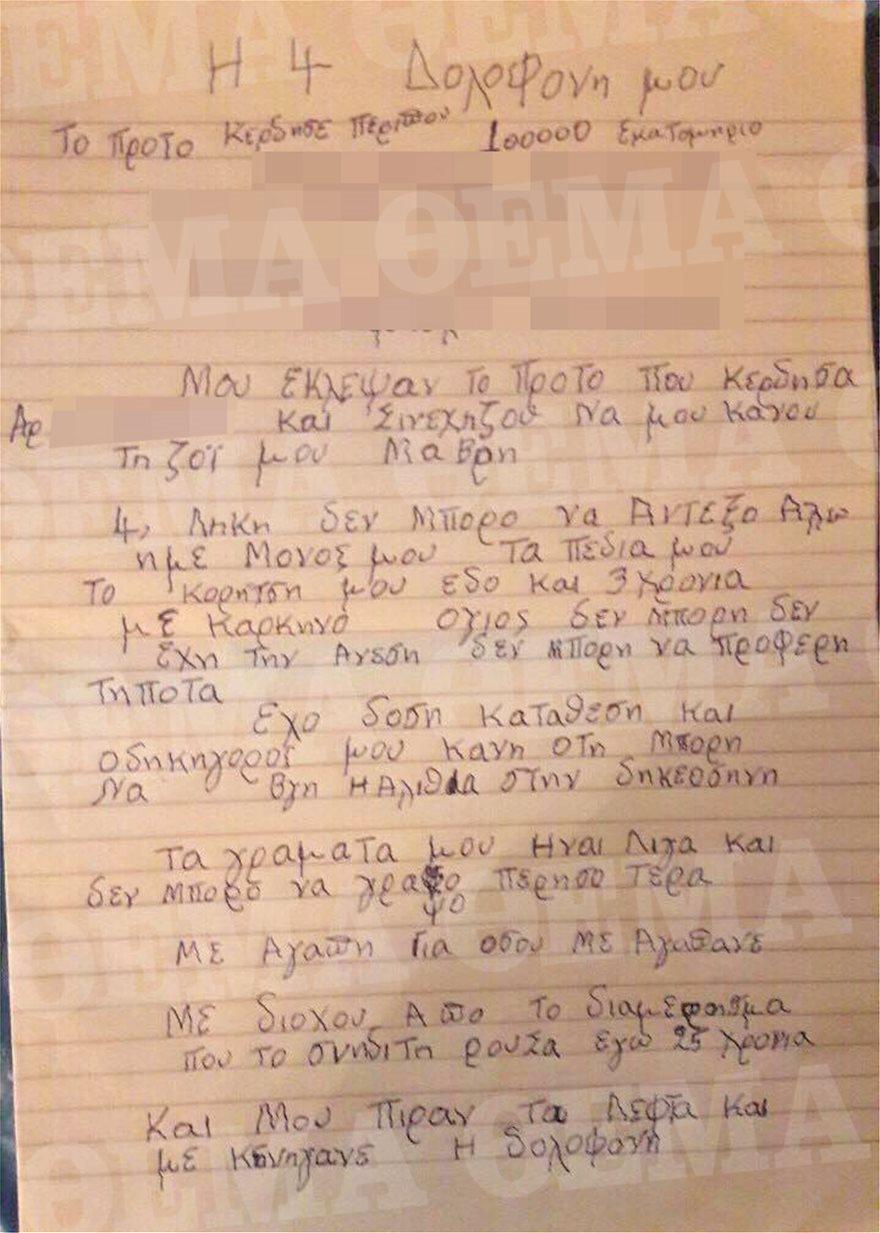 simeioma01 Η αυτοκτονία του 87χρονου Κρητικού εγείρει πολλά ερωτηματικά