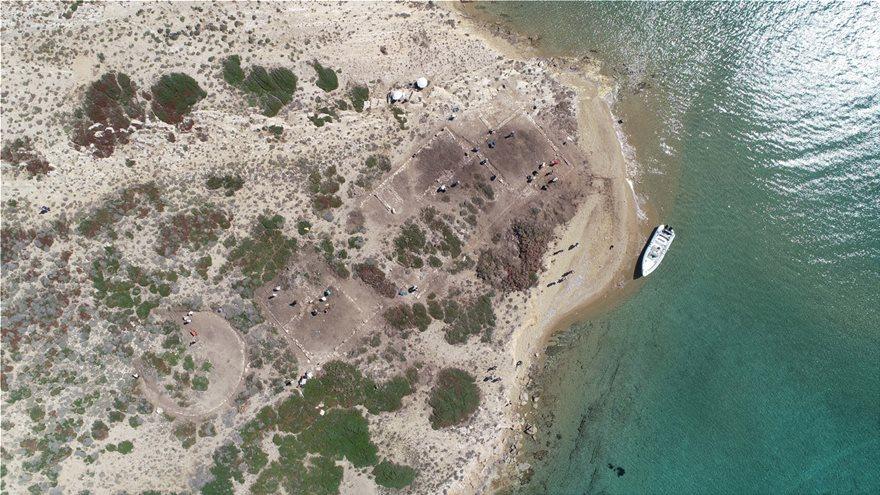 Αεροφωτογραφία των κτιρίων στο Τσιμηντήρι