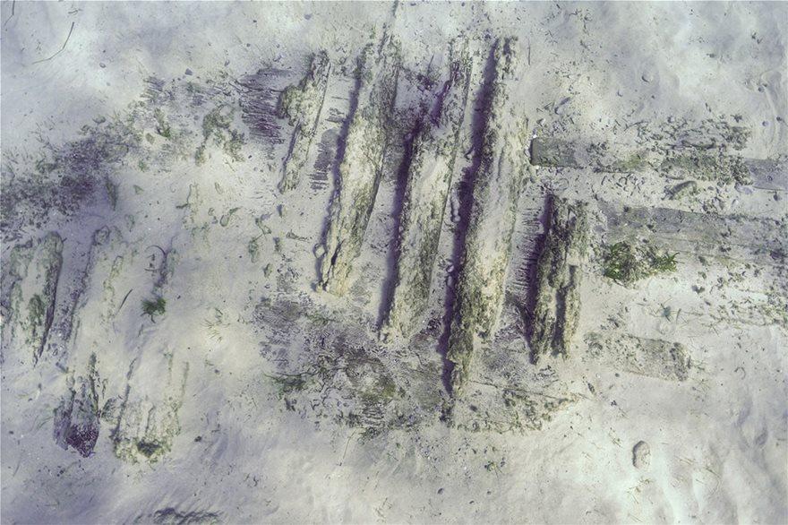Νομείς και πέτσωμα ναυαγίου των χρόνων της Ελληνικής Επανάστασης (φωτ. F. Kvalo)