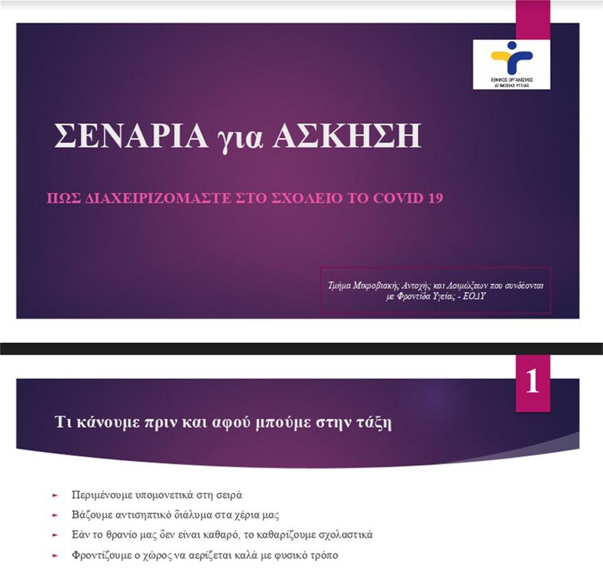 senaria  1  - Σχολεία: Θα ανοίξουν με 15 μαθητές ανά τάξη, αποστάσεις 1,5 μέτρου και… μεμβράνη στους υπολογιστές