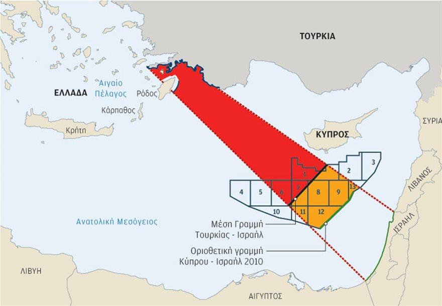 Πρόταση οριοθέτησης ΑΟΖ με Ισραήλ