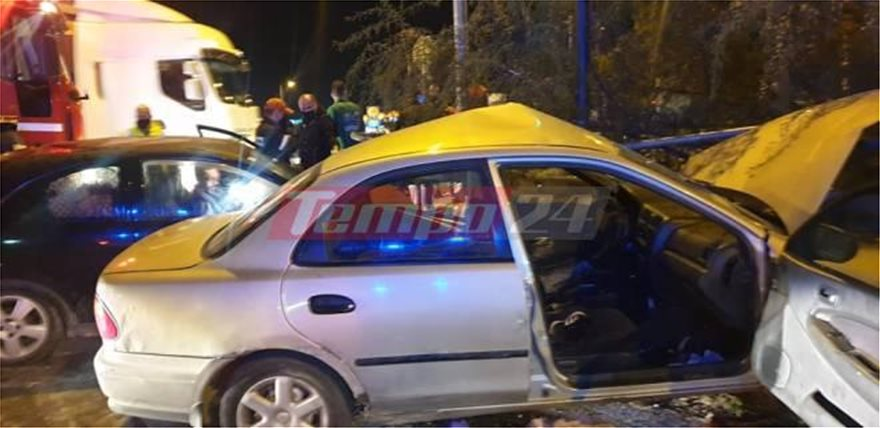 Ένα αυτοκινητιστικό ατύχημα είχε ως αποτέλεσμα τον τραυματισμό πέντε, συμπεριλαμβανομένων δύο παιδιών