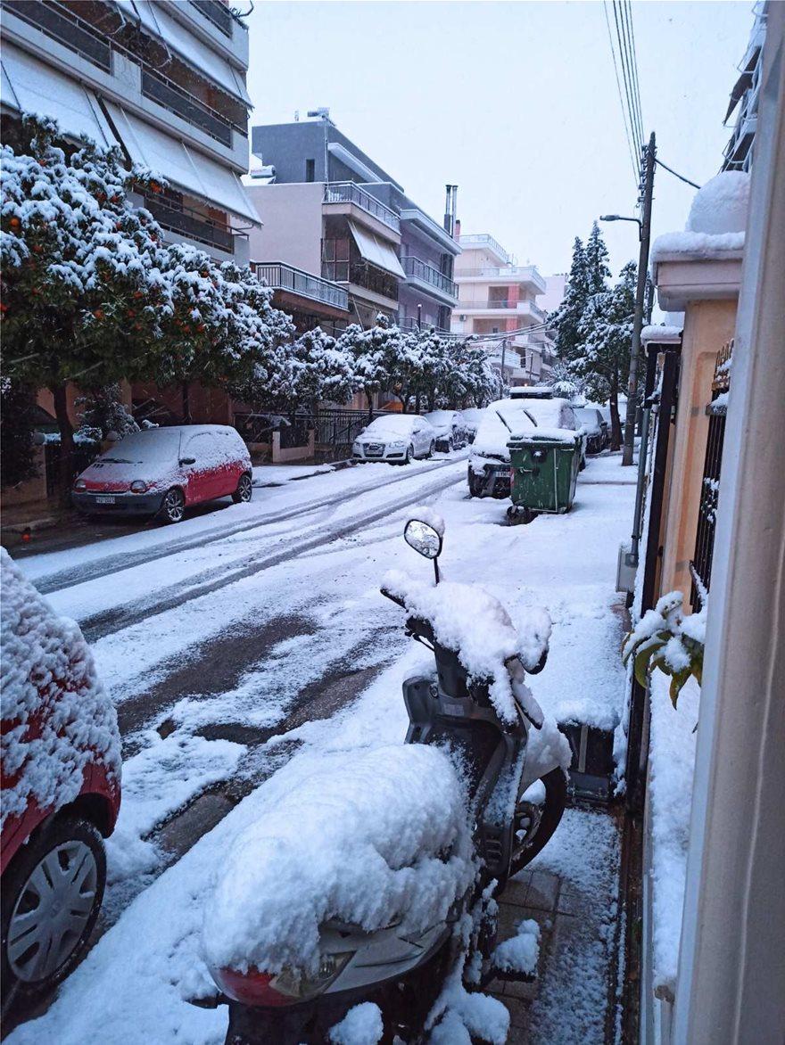 Χιόνι στην Αργυρούπολη