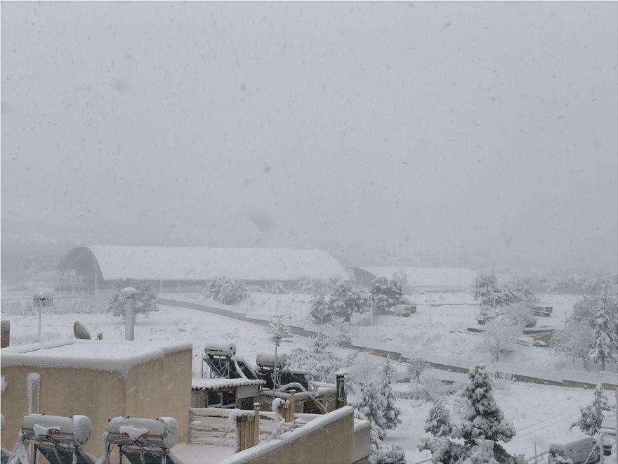 Χιόνι στο Γαλάτσι