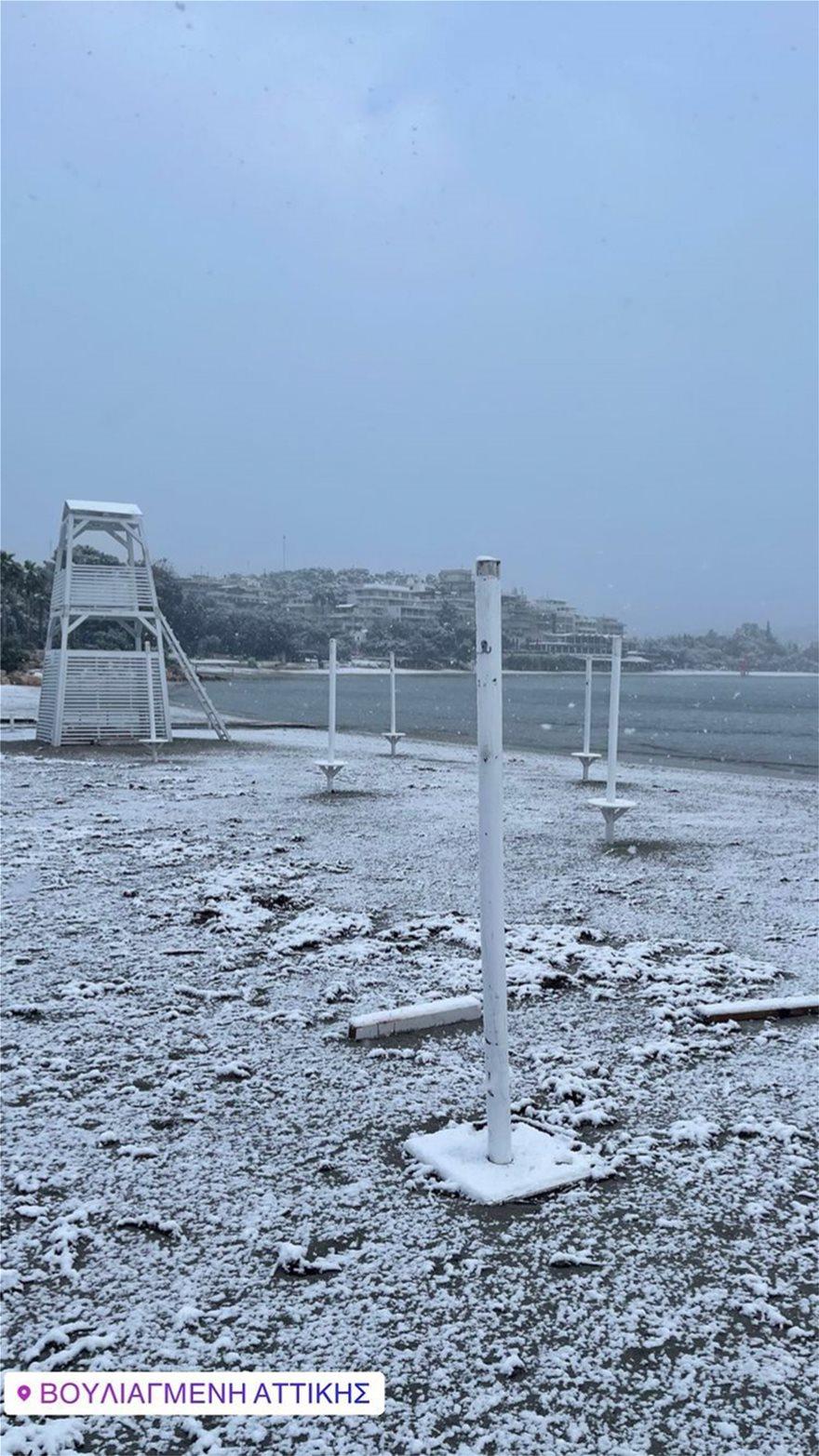 Χιόνι στη Βουλιαγμένη