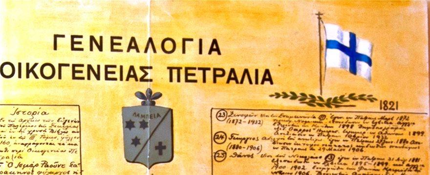 Σημαια-Επαναστασης-και-Οικοσημο-Οικογενειας-Πετραλια