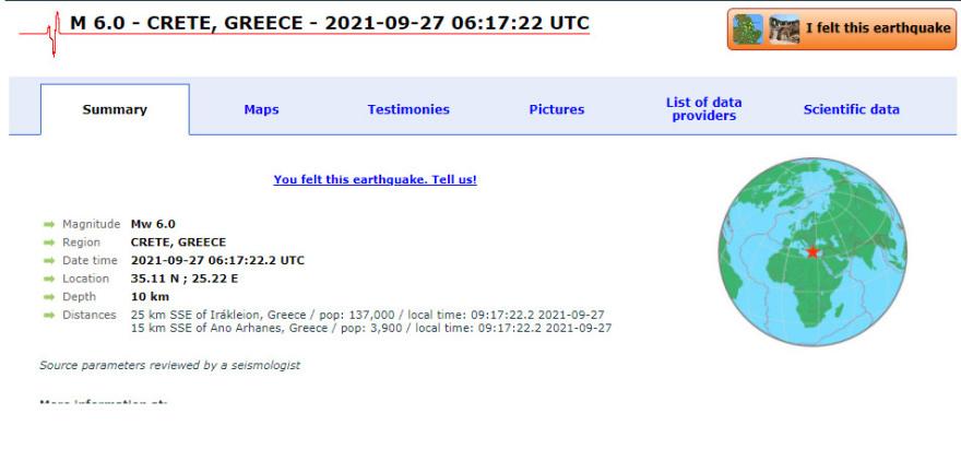 Στα 6 Ρίχτερ ο σεισμός στην Κρήτη - 4 μήνες κουνιόταν η Κρήτη... όπως Θήβα??